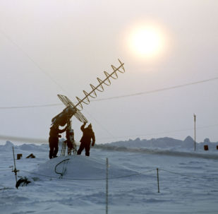 Stazione polare sulla remota isola Zhokhova