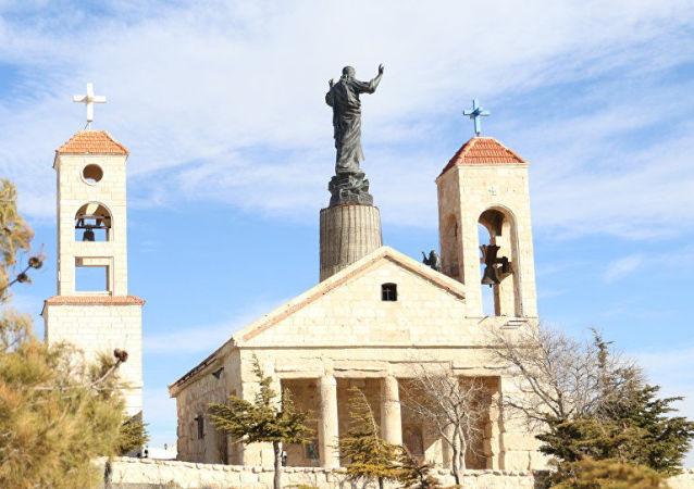 La statua più alta di Gesù Cristo in Siria