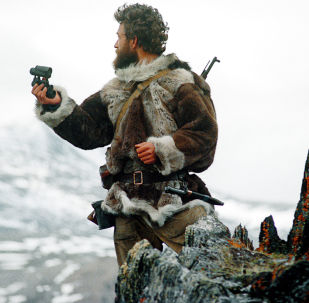 Lo zoologo Vladimir Kazmin al lavoro sull'isola di Wrangel