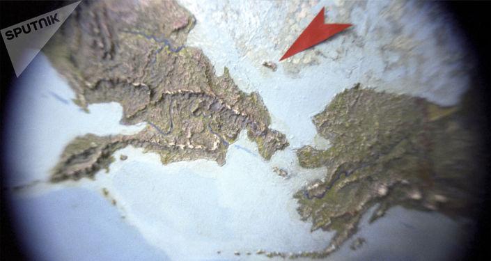 L'isola di Wrangel sulla mappa