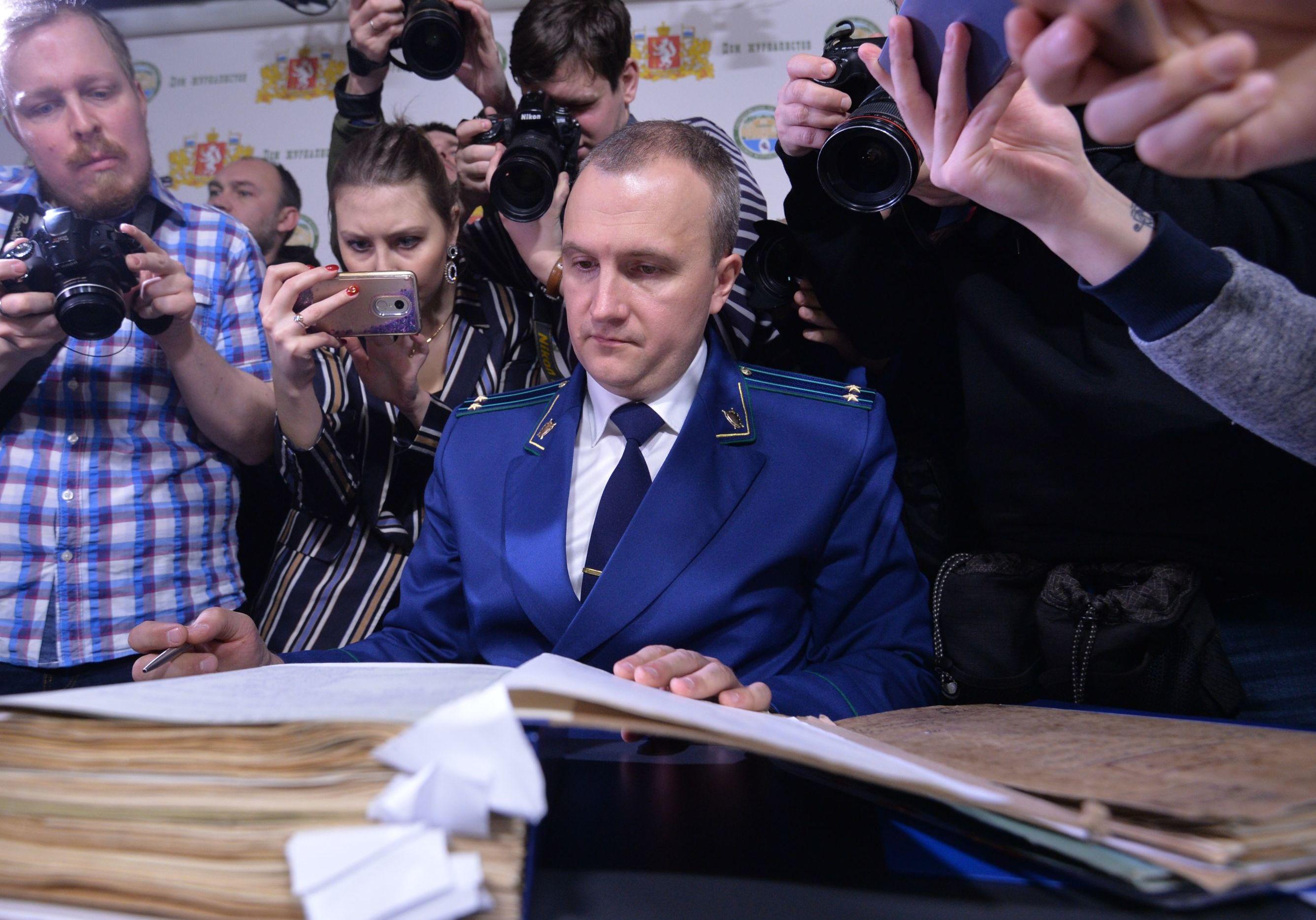 2 febbraio 2019: il comandante della commissione d'inchiesta nominata dalla procura di Ekaterinburg Andrey Kuryakov, durante la iconferenza stampa dedicata alla pubblicazione dei materiali del fascicolo aperto nel 1959 sulla morte del gruppo guidato da Igor Dyatlov.