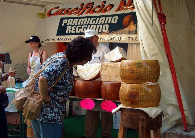 Il festivale del Parmigiano Reggiano a Modena.