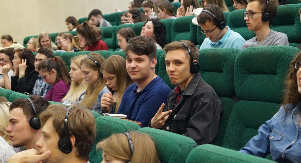 Studenti della facoltà di Studi Internazionali e Gestione Regionale dell'Università RANEPA di Mosca