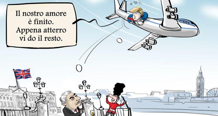 Donald Trump, in volo verso il Regno Unito, ha criticato il sindaco di Londra Sadiq Khan