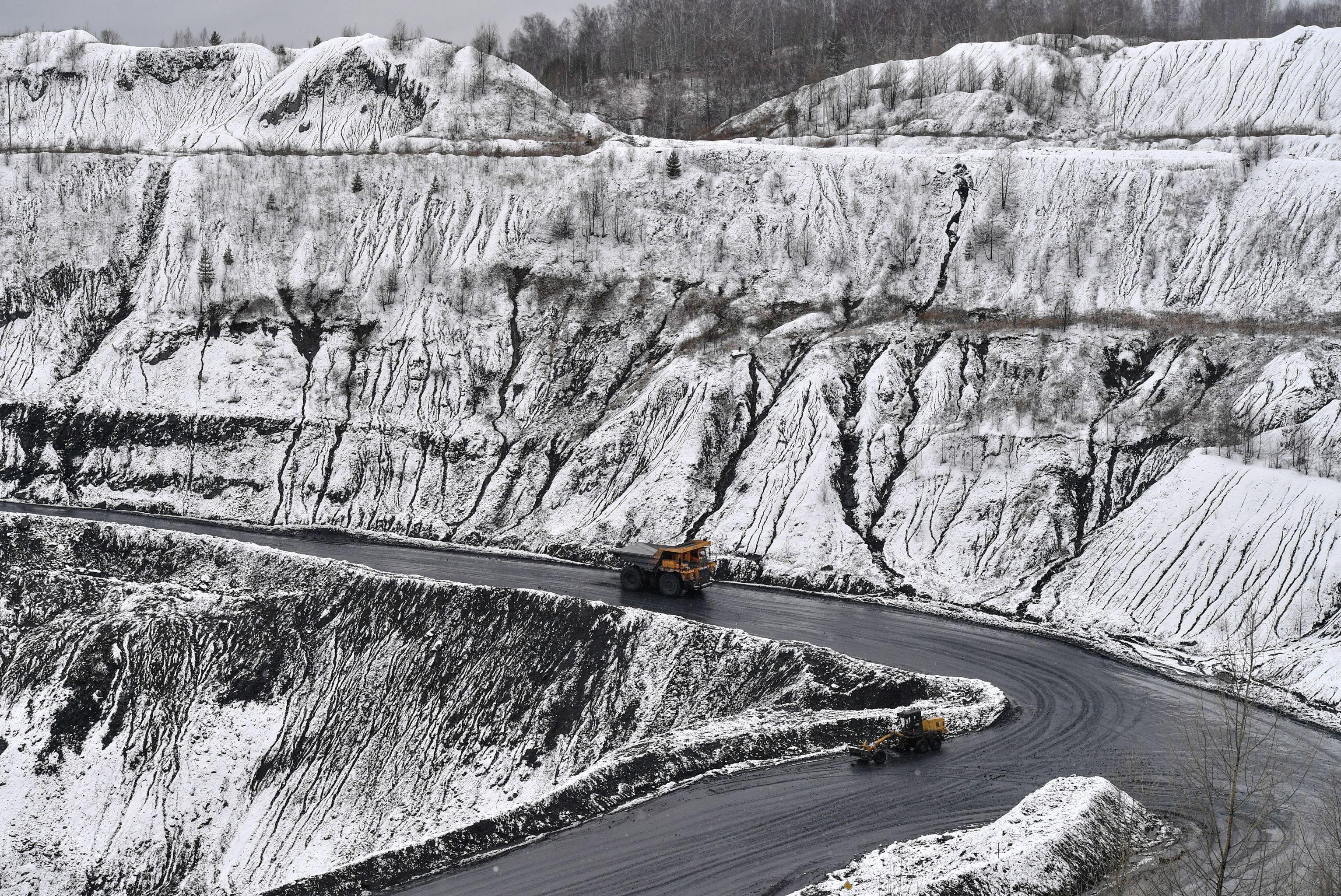 Una miniera di carbone in Siberia
