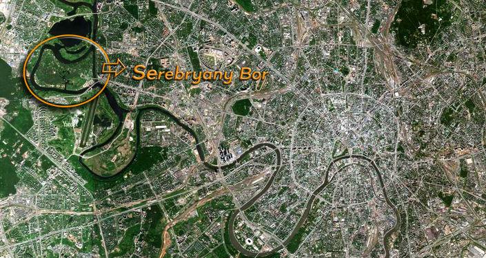 Serebryany Bor sulla mappa