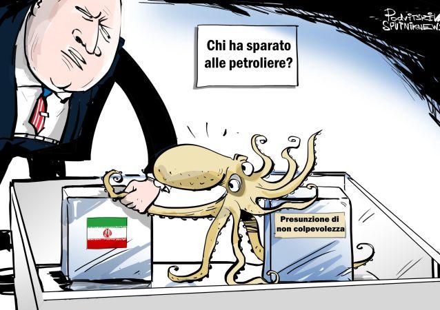 Gli USA accusano l'Iran del presunto attacco alle petroliere nel Golfo di Oman