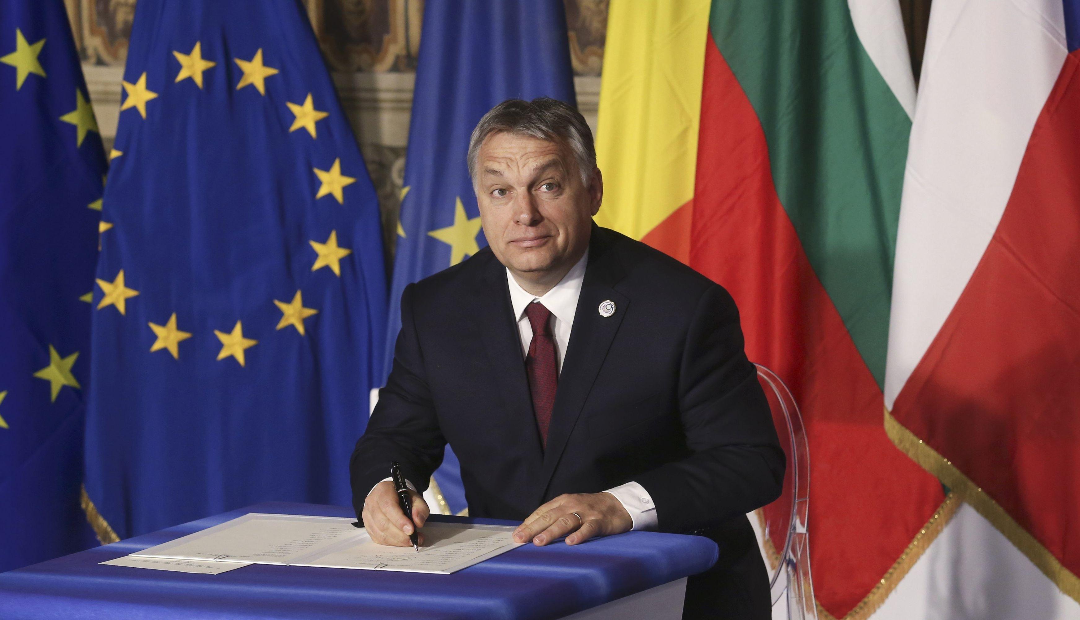 Il primo ministro ungherese Viktor Orban. (foto d'archivio)