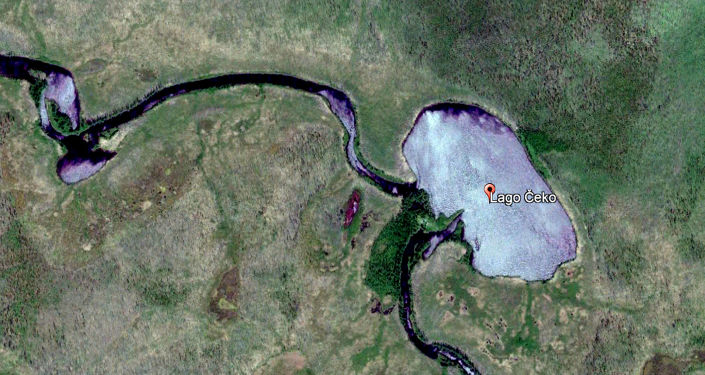 Lago Čeko - foto satellitare