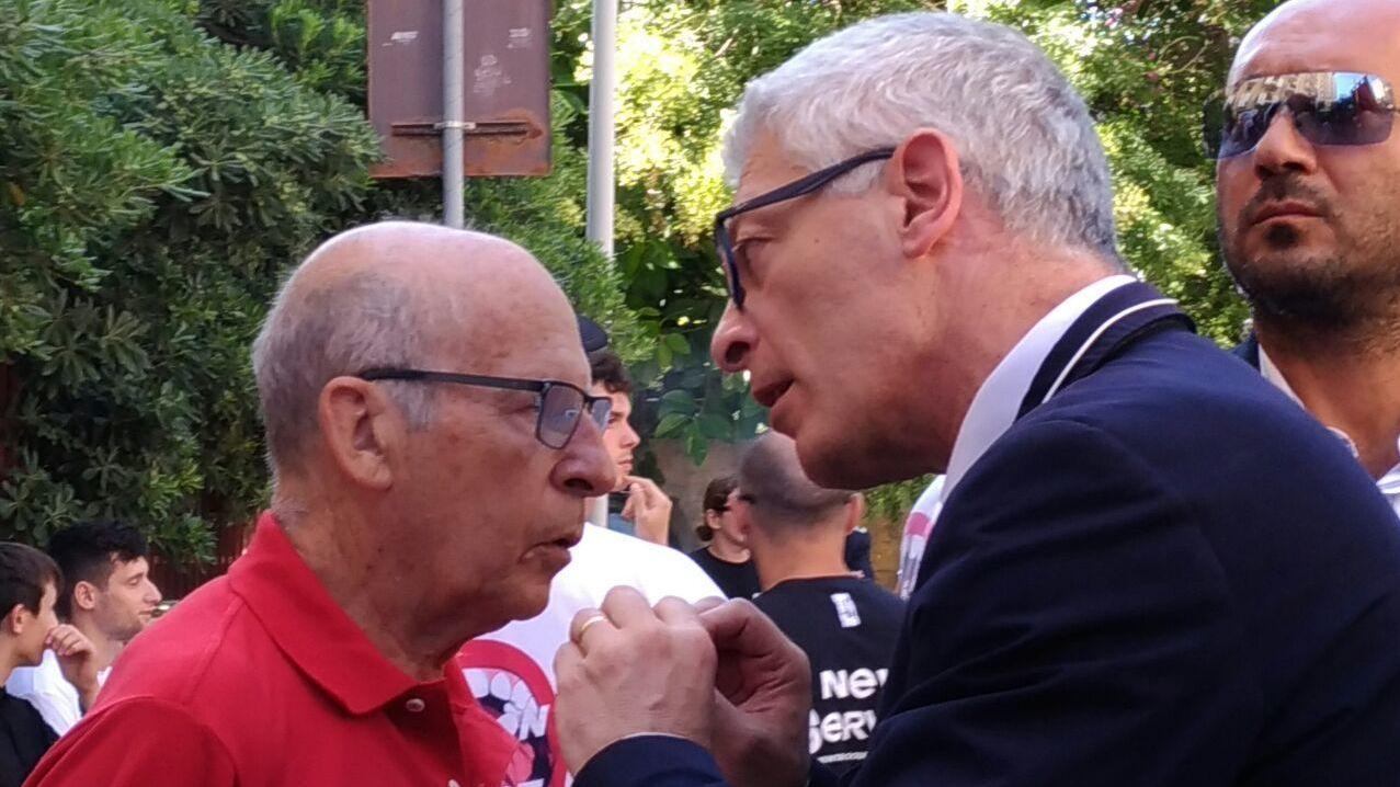Salvatore Borsellino (a sinistra) e Nicola Morra (a destra) alla commemorazione del ventisettesimo anniversario della strage di via d'Amelio a Palermo