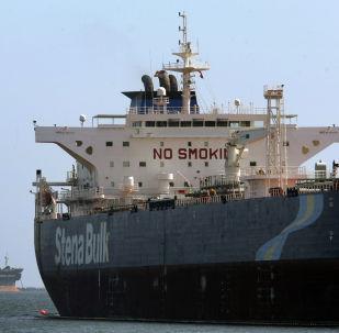The Stena Bulk oil tanker unloads oil