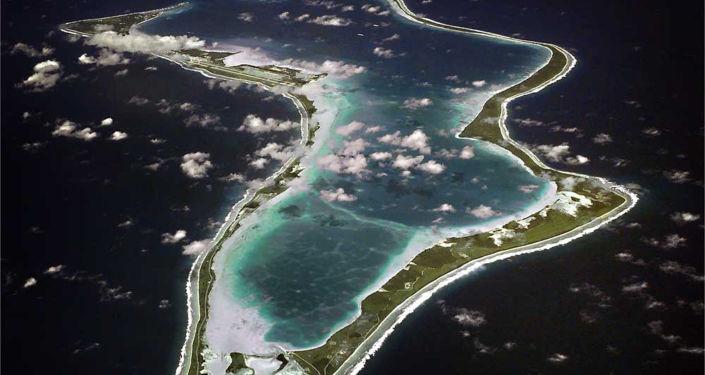 Isola Diego Garcia vista aerea