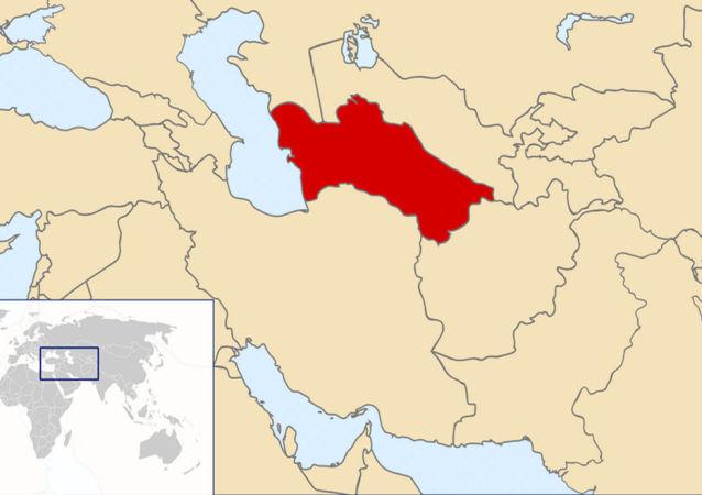 Turkmenistan locazione sulla mappa