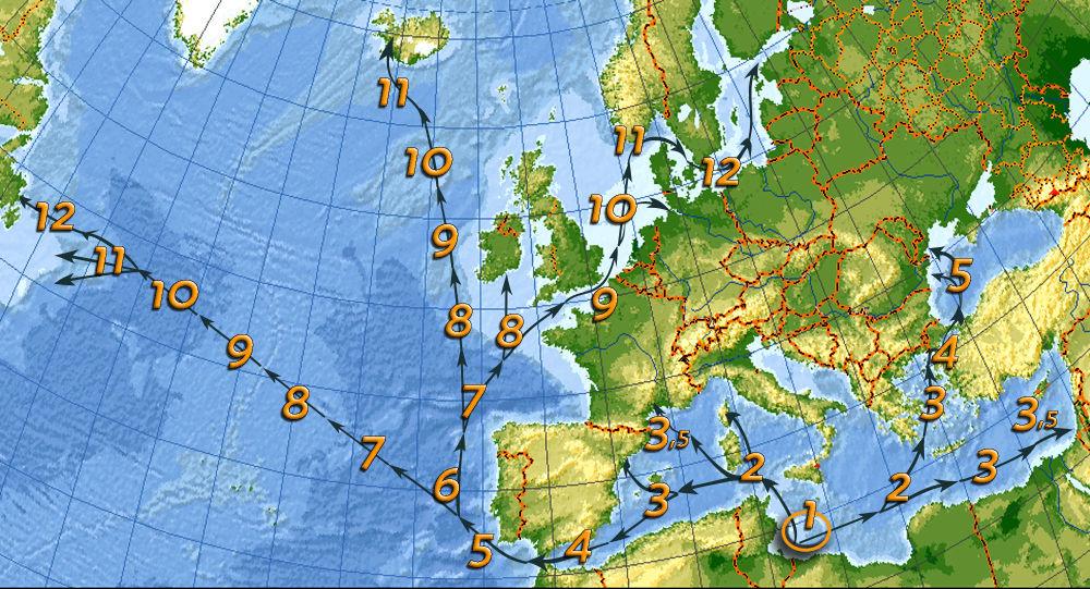Mappa tempi di navigazione medi
