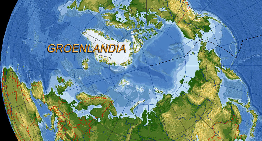 Groenlandia posizione sulla mappa