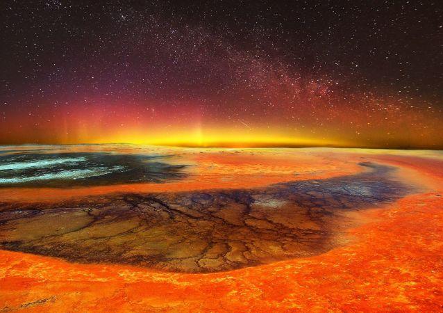 Mondo vulcanico - rappresentazione artistica