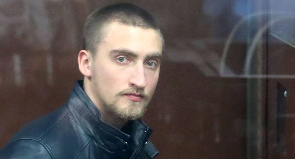 Manifestante Pavel Ustinov