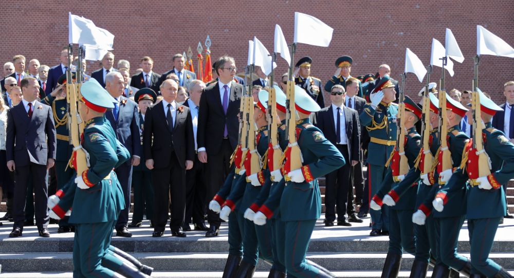 I presidenti Putin e Vucic alla Parata della Vittoria del 2018