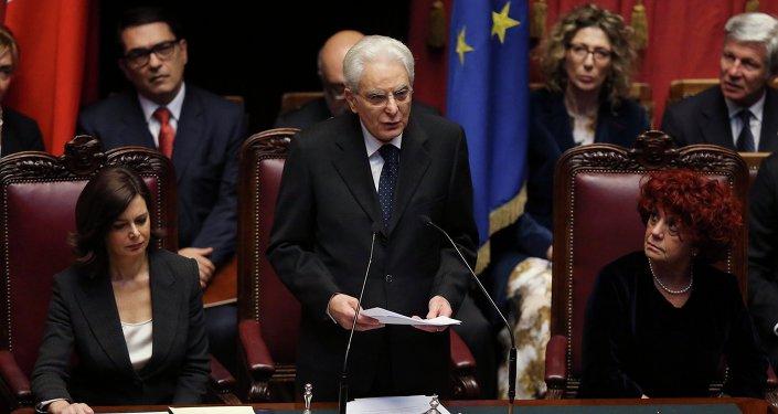 Presidente italiano Sergio Mattarella.
