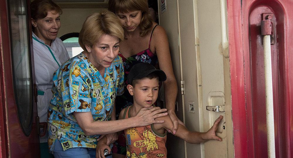 Dottoressa Lisa, nove bambini in gravi condizioni sono giunti a Mosca dall'Ucraina dell'est