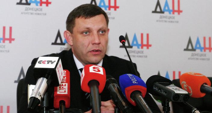 Il presidente dell'autoproclamata Repubblica Popolare di Donetsk Alexander Zakharchenko