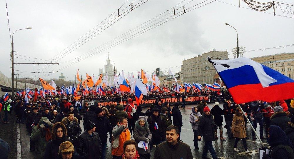Manifestazione in memoria di Boris Nemtsov