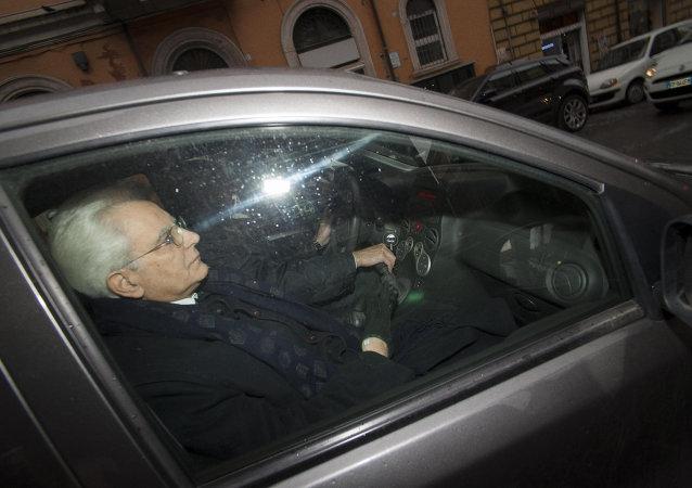 Presidente italiano  Sergio Mattarella