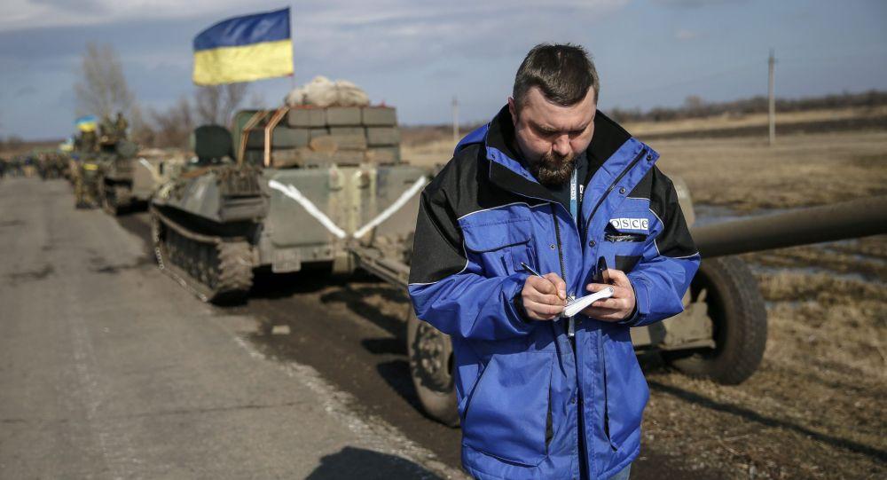 Ispettore OSCE nel Donbass (foto d'archivio)