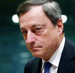 Il Presidente di BCE Mario Draghi