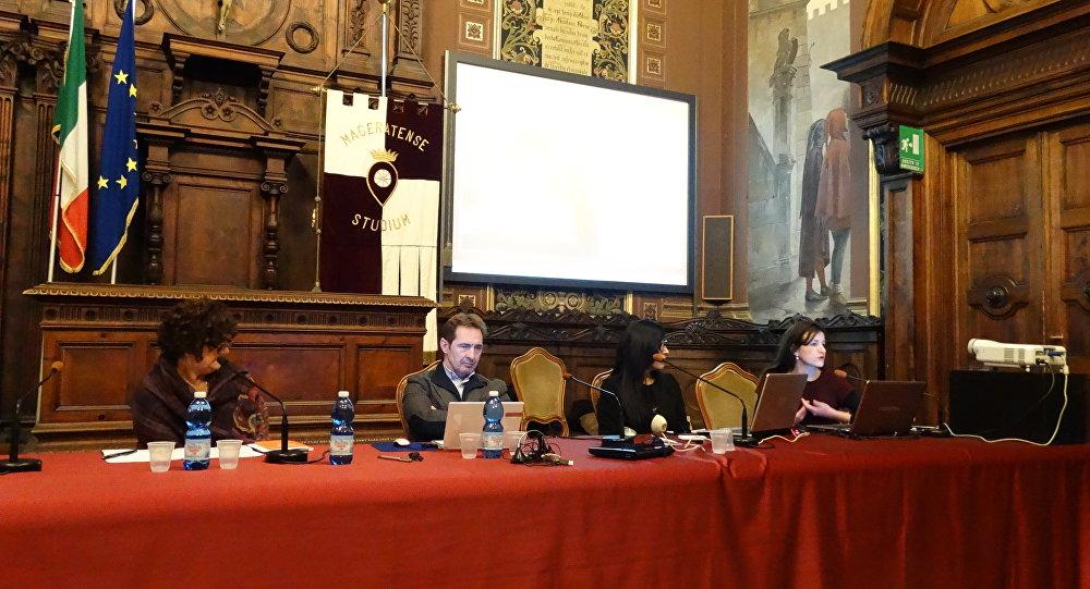 Conferenza sulla guerra in Ucraina a Macerata, partecipanti