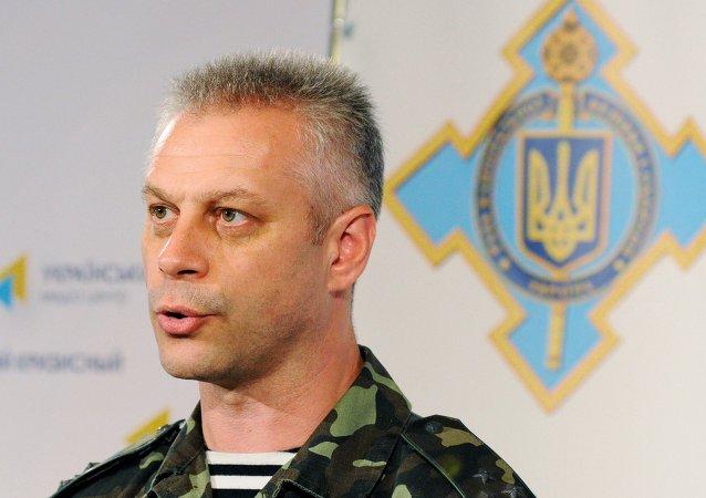 Andriy Lysenko, portavoce ATO delle forze armate ucraine nel Donbass