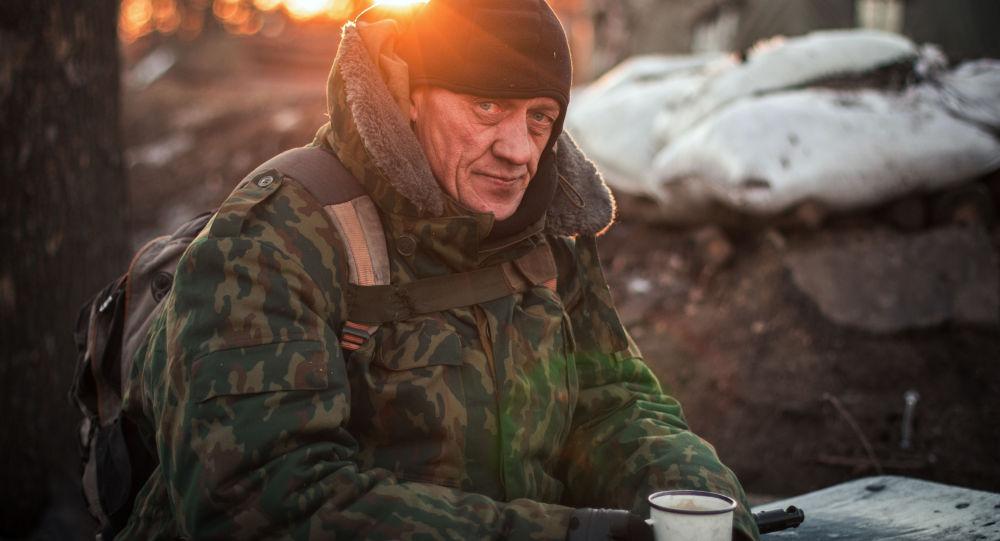 Il miliziano di Repubblica popolare di Donetsk