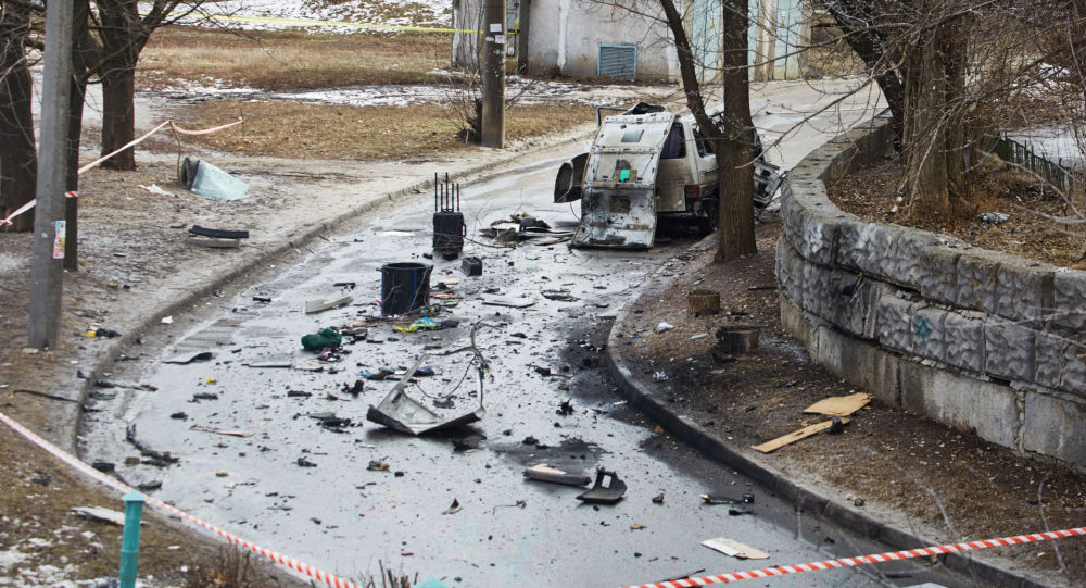 Dopo l`esplosione della bomba