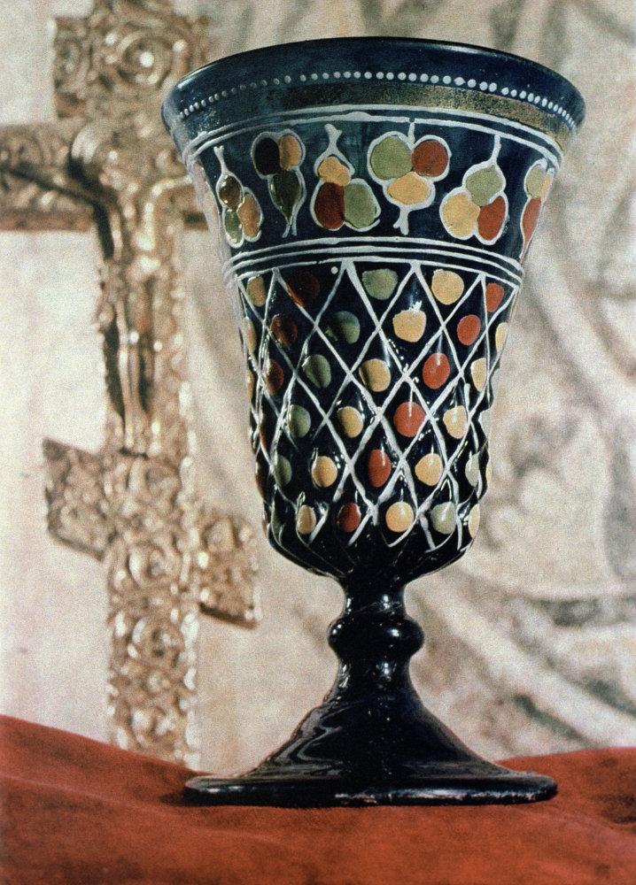 Una coppa di vetro appartenuta allo Zar Ivan il Terribile.