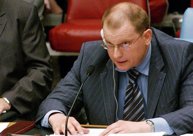 Konstantin Dolgov, l'inviato del Ministero degli Esteri russo per i diritti dell'uomo, la democrazia e il primato del diritto in ONU