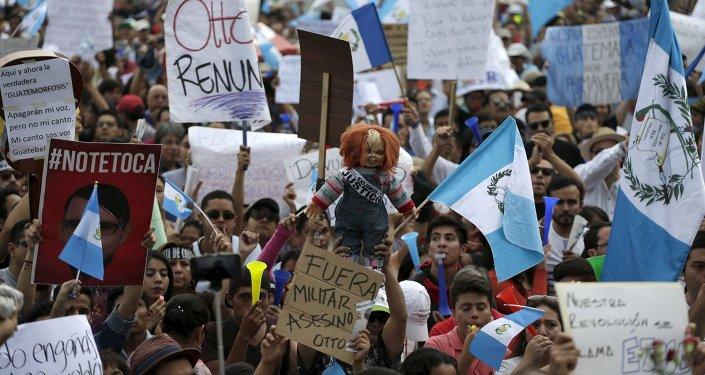 Le proteste per le dimissioni del presidente di Guatemala Otto Perez Molina