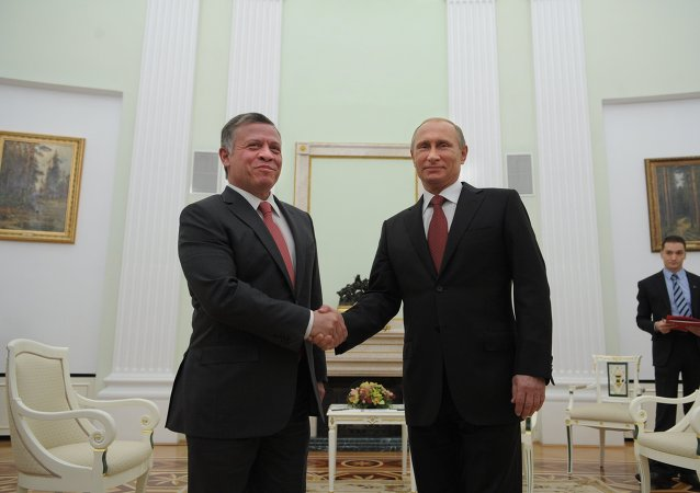 Vladimir Putin e Abdullah II di Giordania