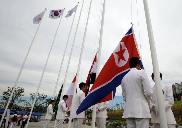 Le bandiere delle Coree