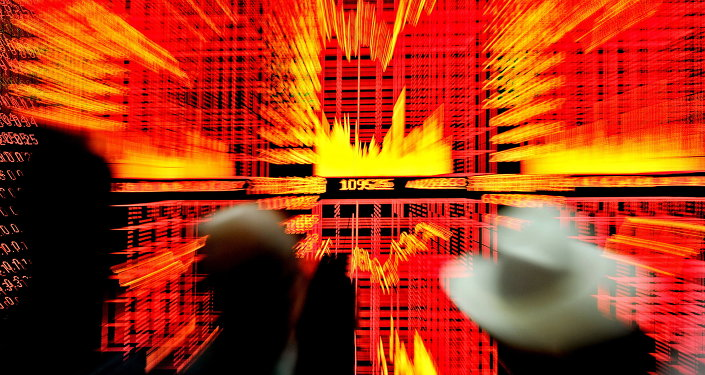 Chinese investors monitor screens showing stock indexes at a trading house in Shanghai