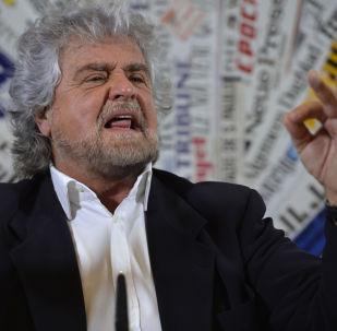Il leader del Movemento 5 stelle Beppe Grillo