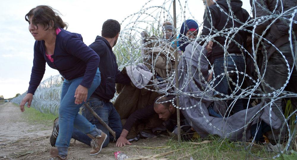 Migranti attraversano il confine serbo-ungherese