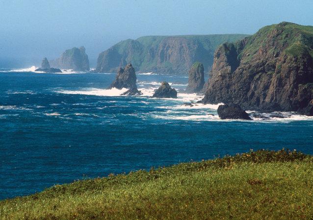 Paesaggio delle Isole Curili