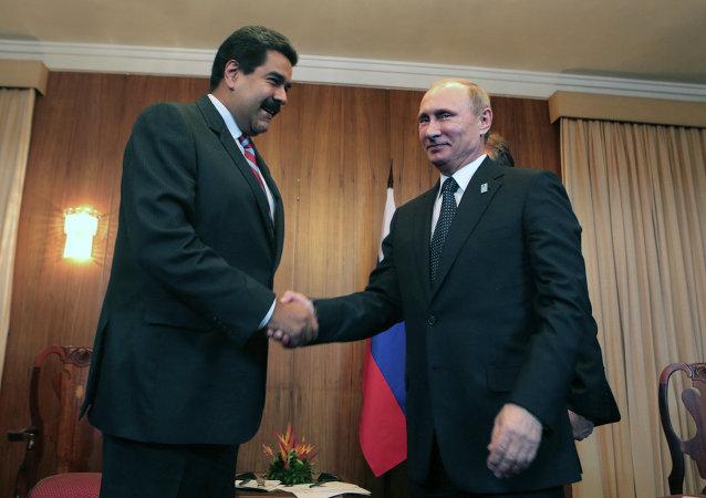Nicolas Maduro e Vladimir Putin