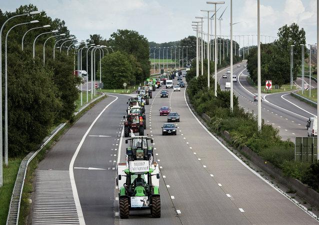 Protesta degli agricoltori a Bruxelles