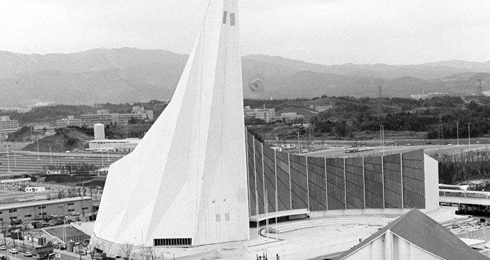Il padiglione sovietico all'Esposizione Universale di Osaka del 1970