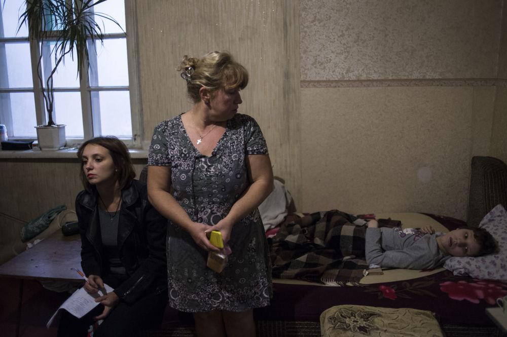 I volontari a Donetsk