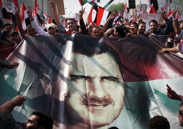 Sostenitori del presidente Bashar Assad