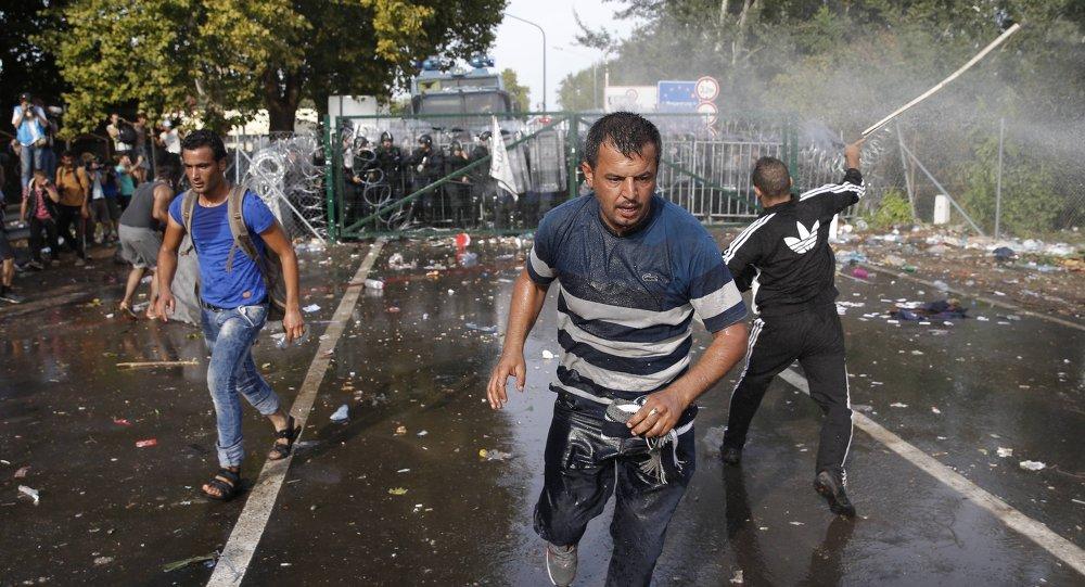 Scontri tra polizia e migranti al confine serbo-ungherese