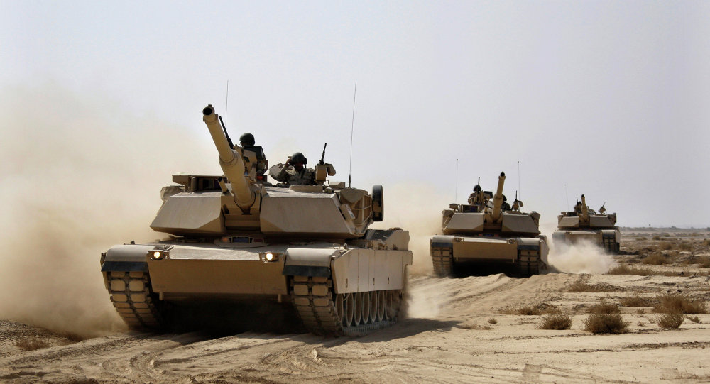Carri armati USA Abrams dell'esercito dell'Iraq