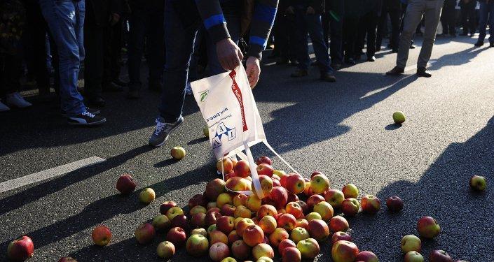 Le proteste contro le sanzioni in  Polonia